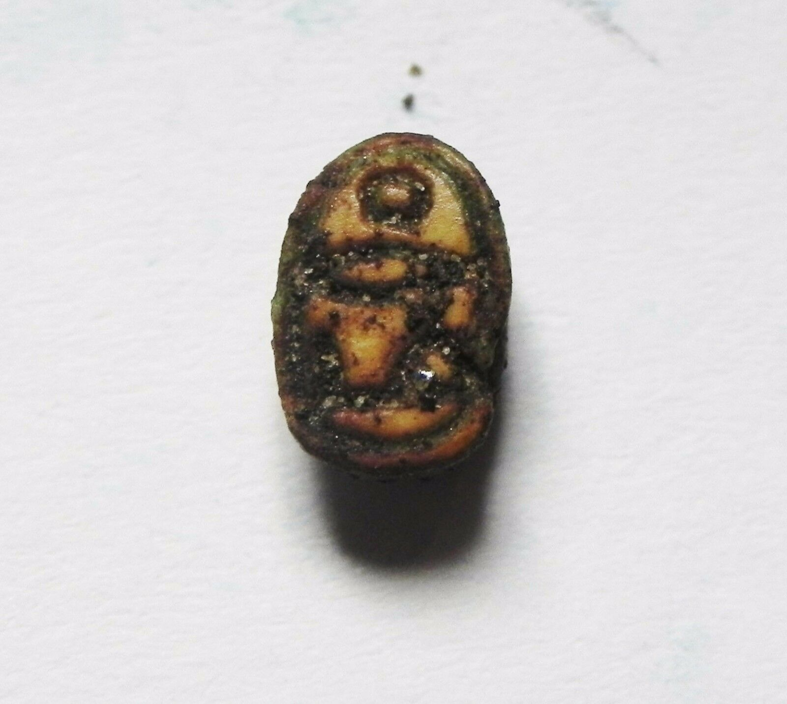 Zurqieh -Af600-  Ancient Egypt, New Kingdom. Stone Scarab 1400 B.c