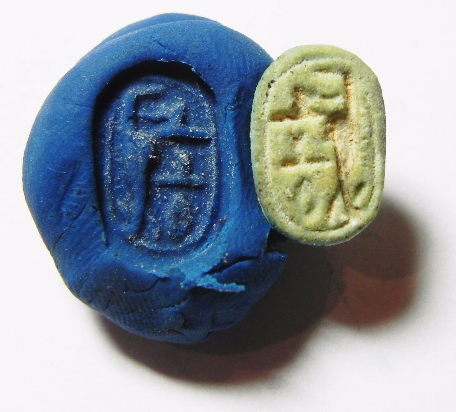 Zurqieh -Af615-  Ancient Egypt, New Kingdom. Stone Scarab 1400 B.c.