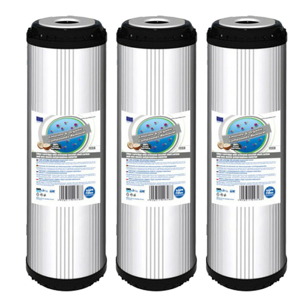 """3pk Activated Carbon Water Filter 10"""" ideal for Reverse Osmosis"""