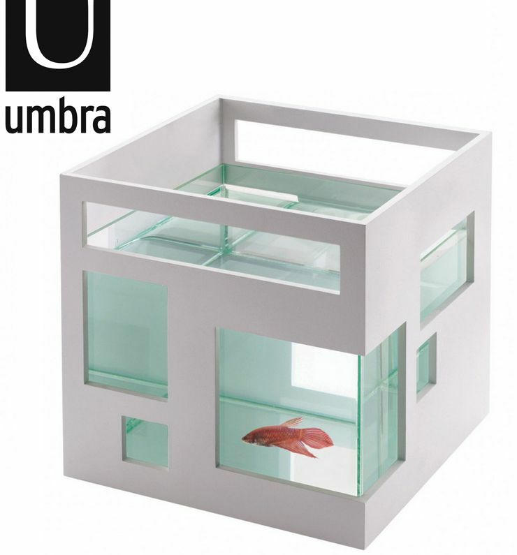 [Umbra] Aquarium Design Umbra Fishhotel Poisson Hotel Tank Blanc Fishbowl 460410