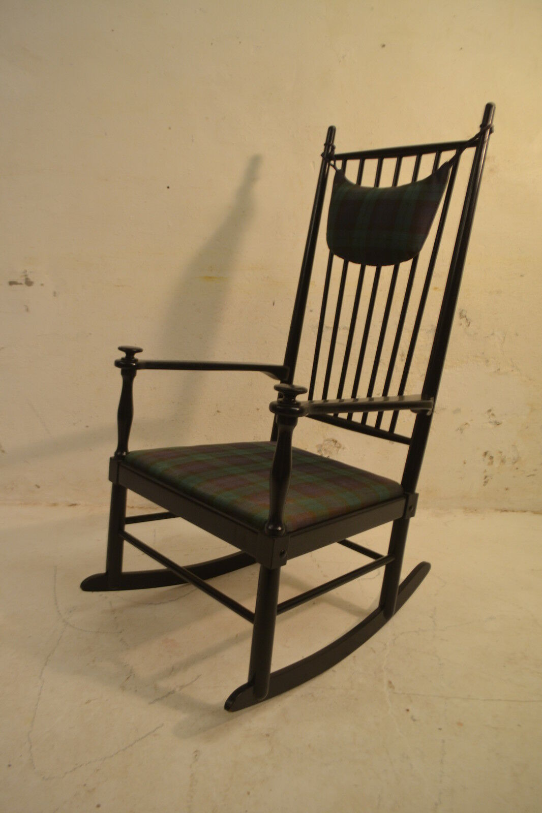 Stunning Vintage Swedish Gelma Lacquered Rocking Chair - Danish