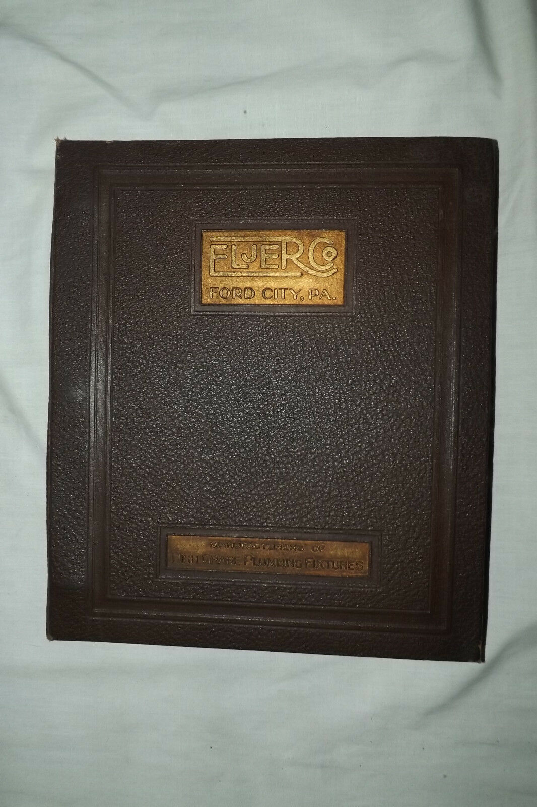 1935 ELJER PLUMBING FIXTURES CATALOG ~ BROCHURE ~ Price Sheet   Ford City, PA.