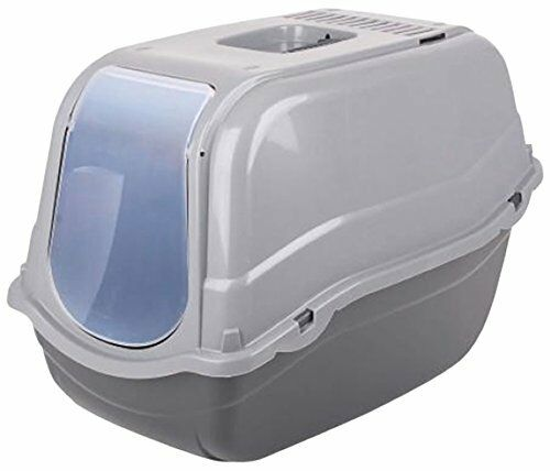 Dogi Click and Secure Pet Cat Litter Tray Toilet Box, Grey