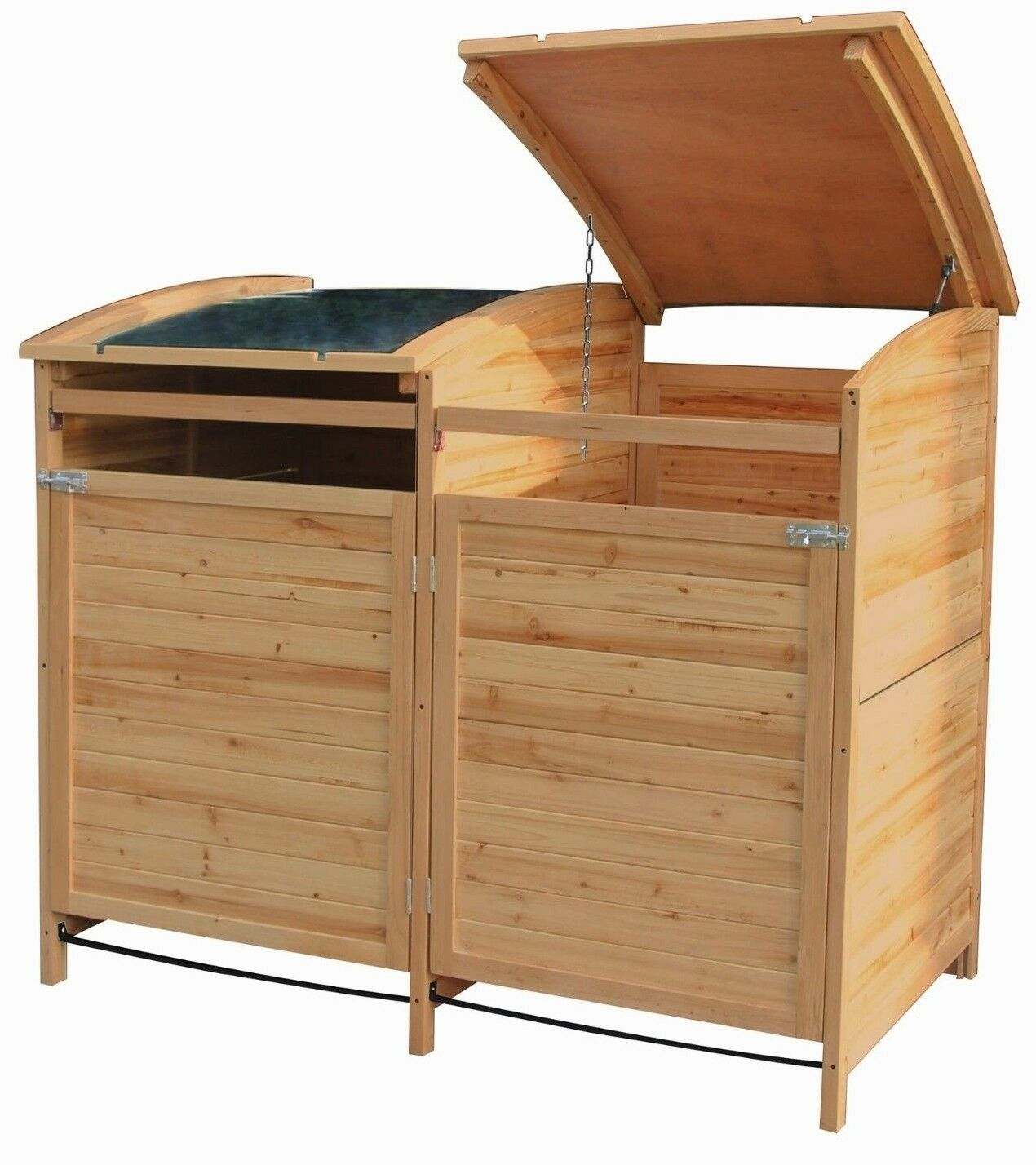 m lltonnenbox holz 240 l gartenbox m lltonnenverkleidung m lltonne 2er box neu eur 179 99. Black Bedroom Furniture Sets. Home Design Ideas