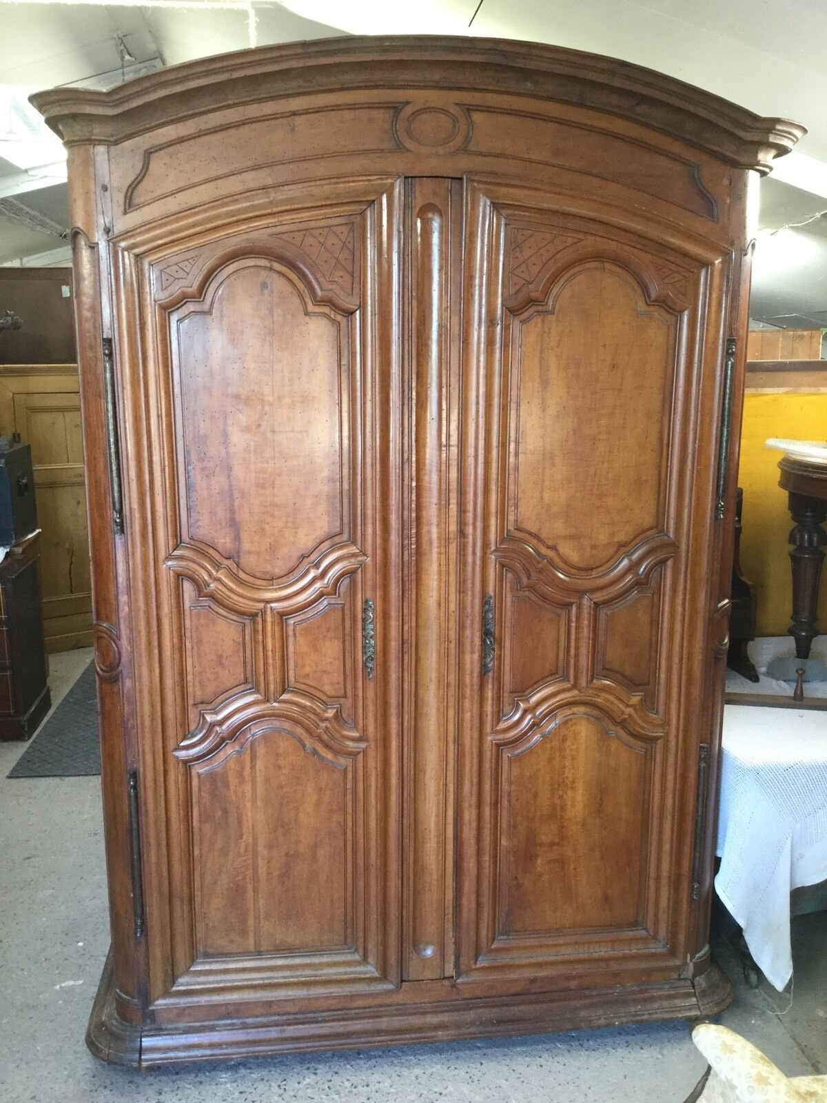 Large Antique French Knock Down Wardrobe / Armoire
