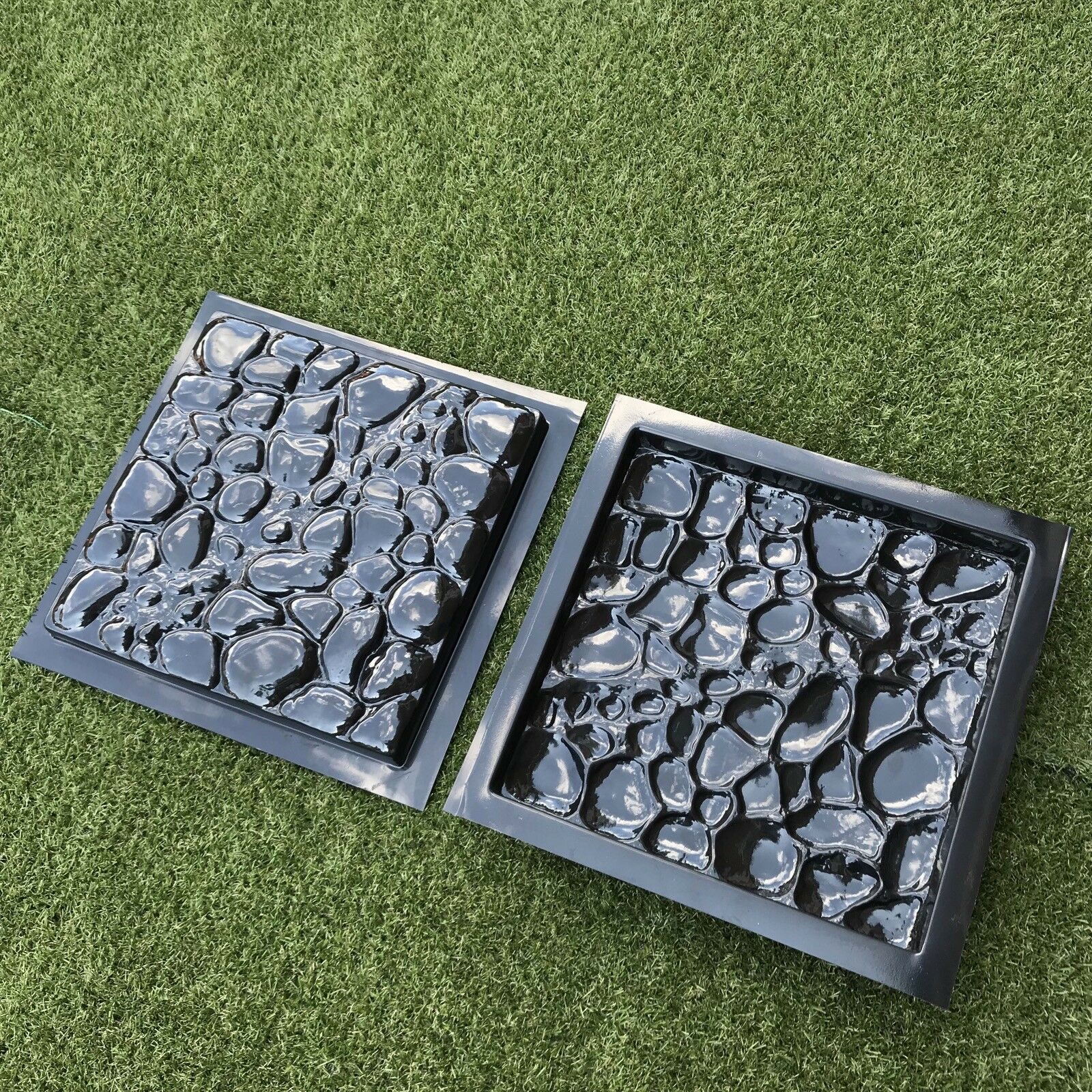 2 Pcs Plastic MOLDS For Concrete Garden Stepping Stone Path Patio MOULDS  CEMENT 1 Of 12Only 1 Available See More