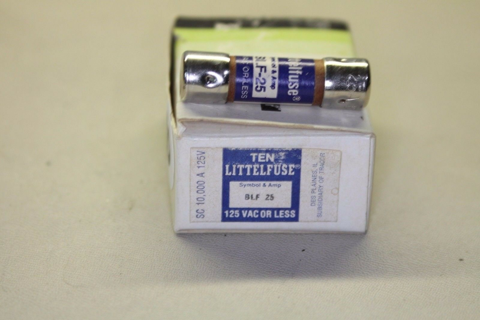 Littlefuse Blf 25 125v Fuse Box Of 10 1995 Picclick 125 Amp 1 3only 3 Available