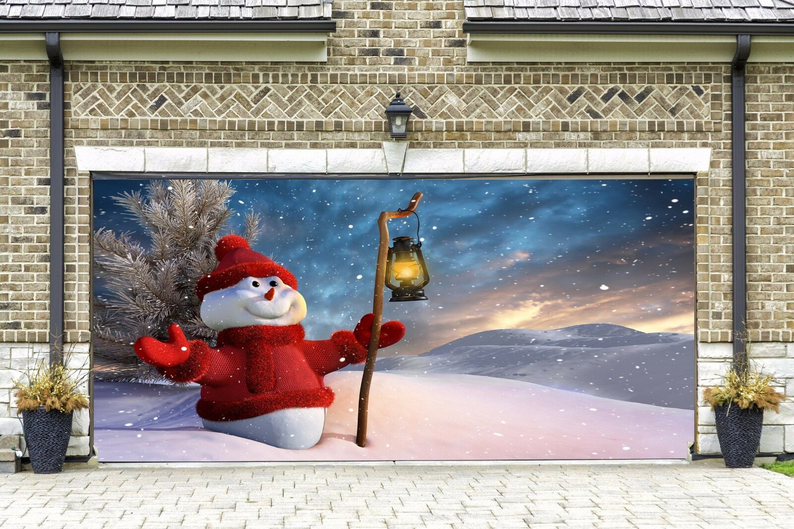 Christmas Snowman 3d Print Garage Door Murals Garage Door