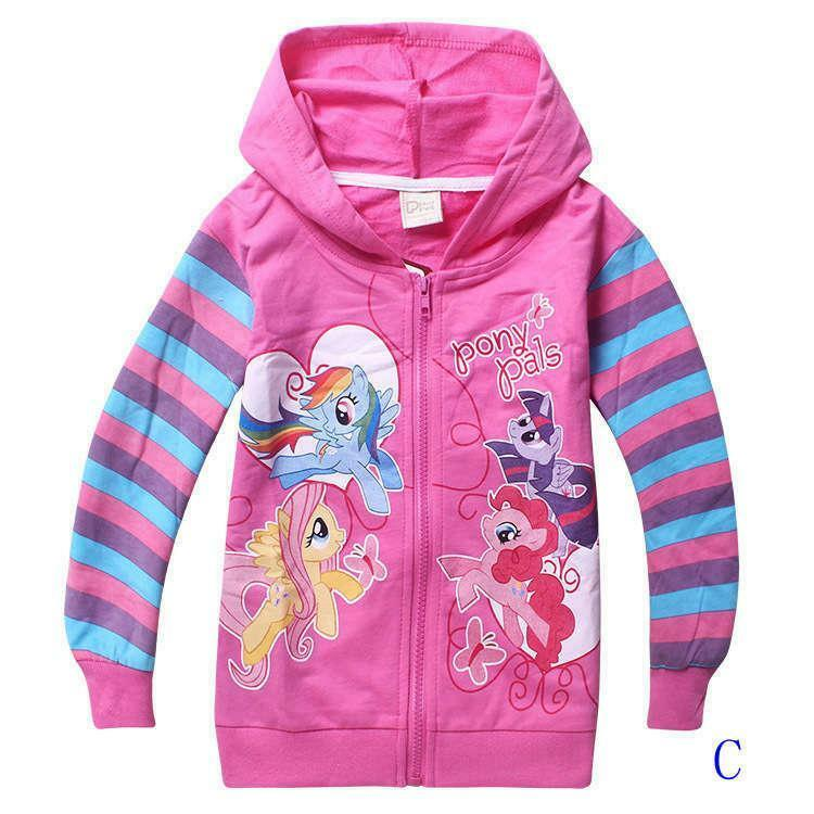 New My Little Pony Hoodie PINK  2,3,4,5,6,7 YEARS JACKET Rainbow Dash twighlight