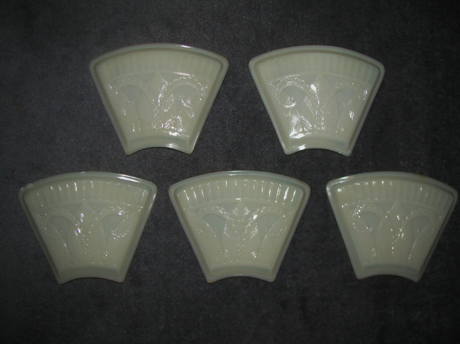 Vintage Slip Shades Glass Set Of 5 Ea. For Chandelier Sconces Light Fixture