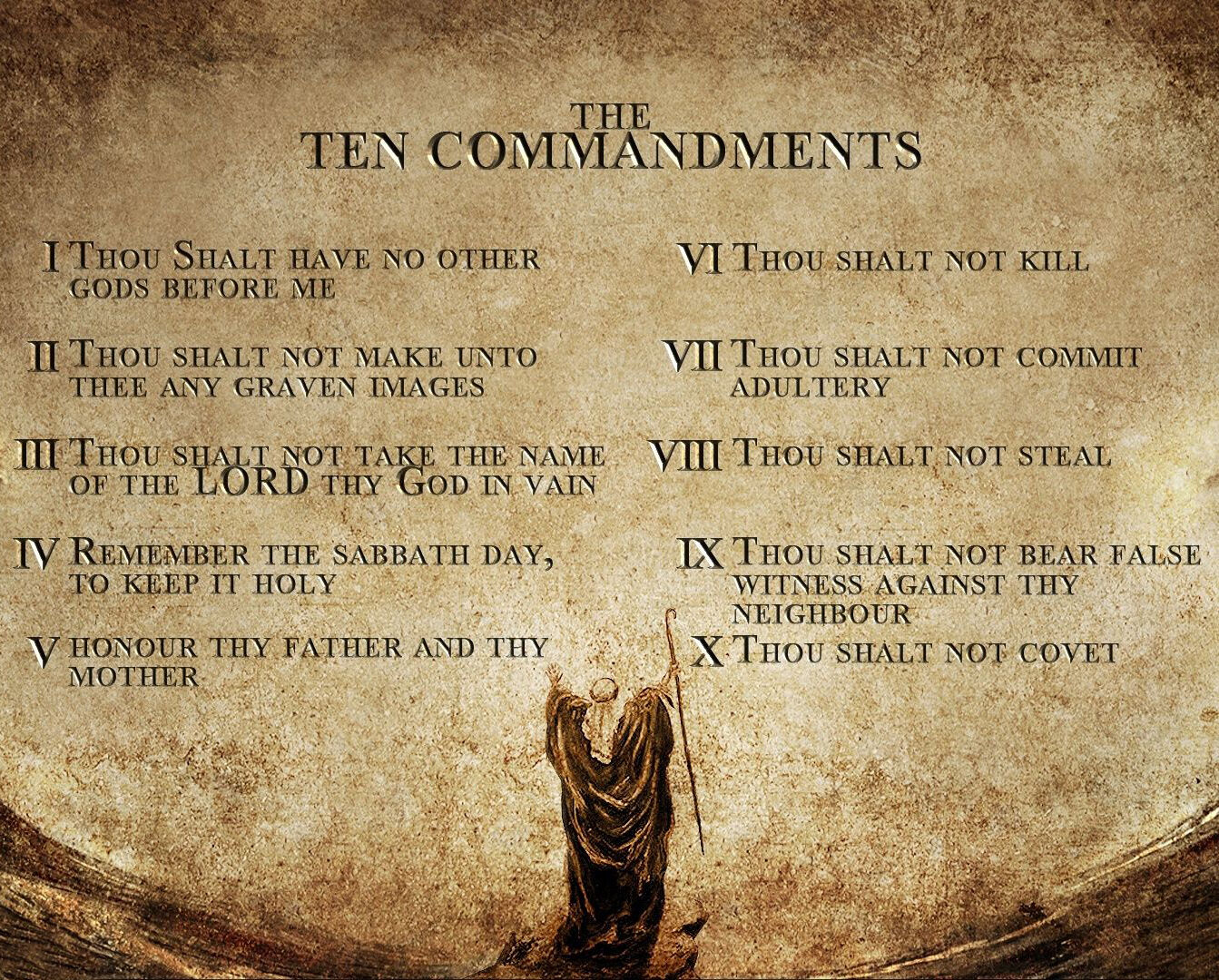 MOSES THE TEN Commandments 8X10 Photo Picture Christian Art - $7.99 ...