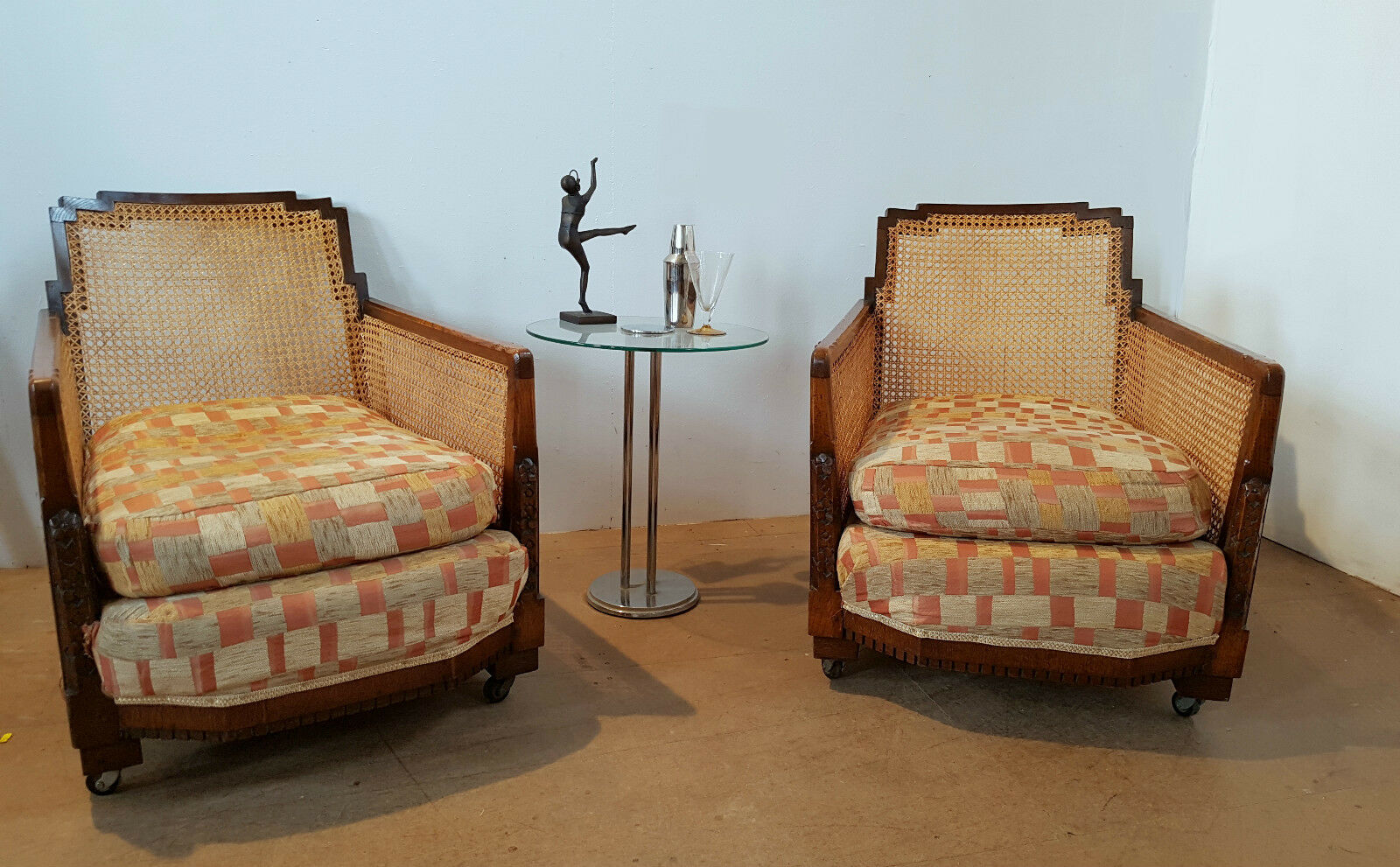 A Pair Of Begere Art Deco Armchairs