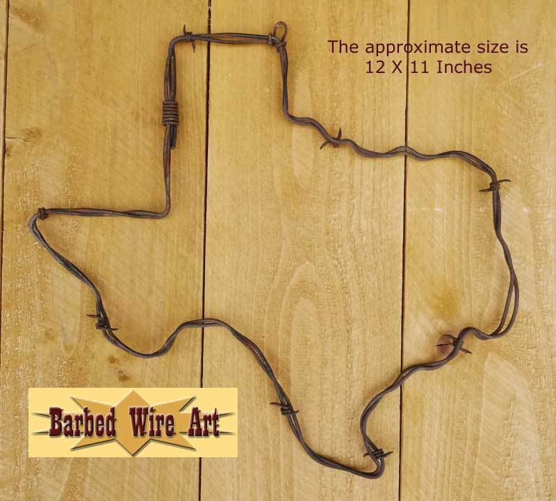 TEXAS - HANDMADE horse equine rodeo barbed wire art western decor ...