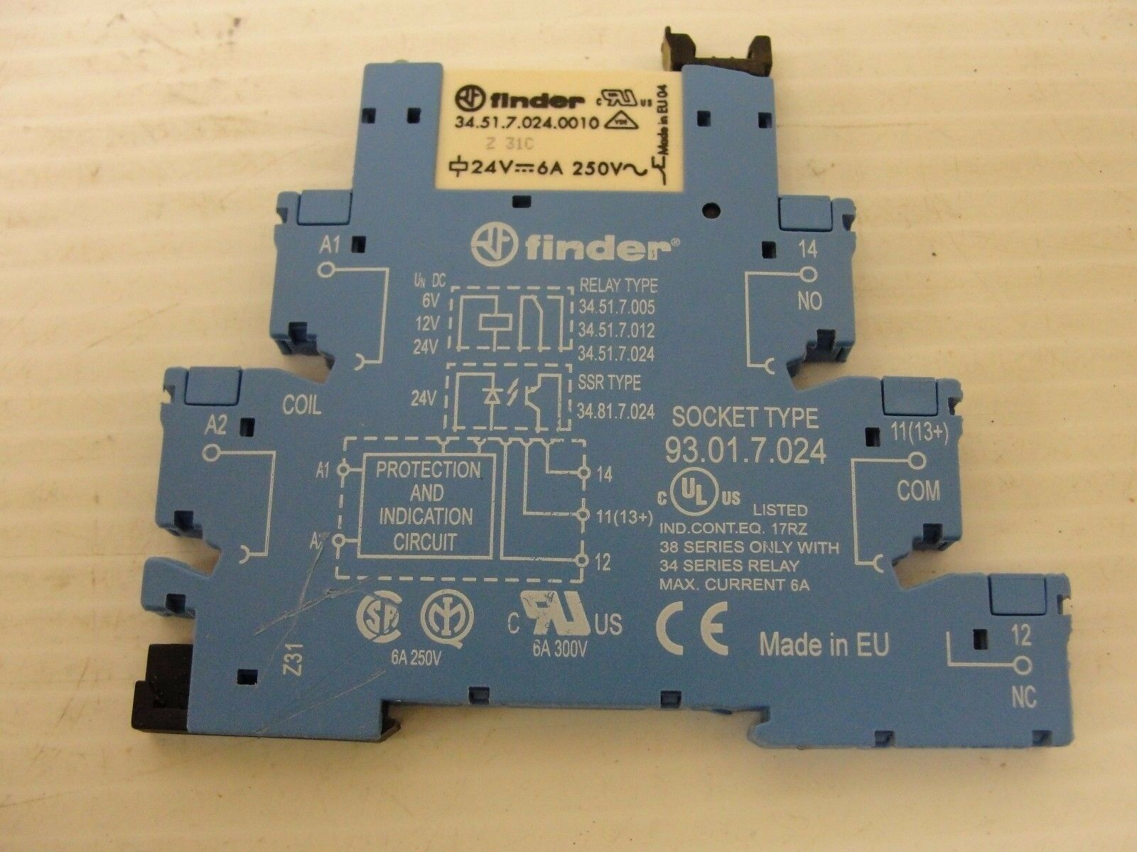 Finder 345170240010 Relay W 93017024 Socket 1499 Picclick Solid State 1 Of 4only Available