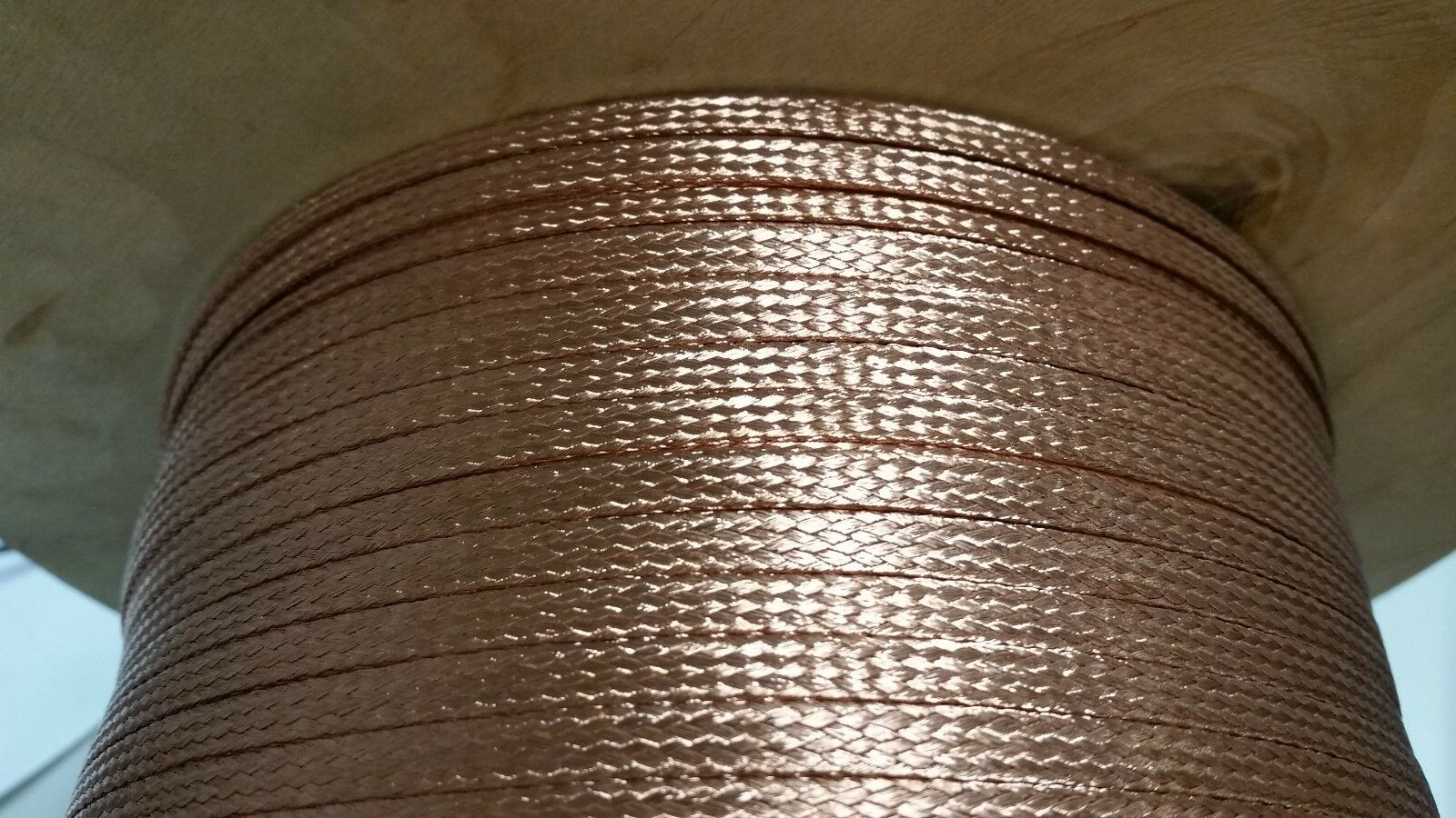 100 FT\' FLAT Braided BARE PURE Copper Wire 1/4\