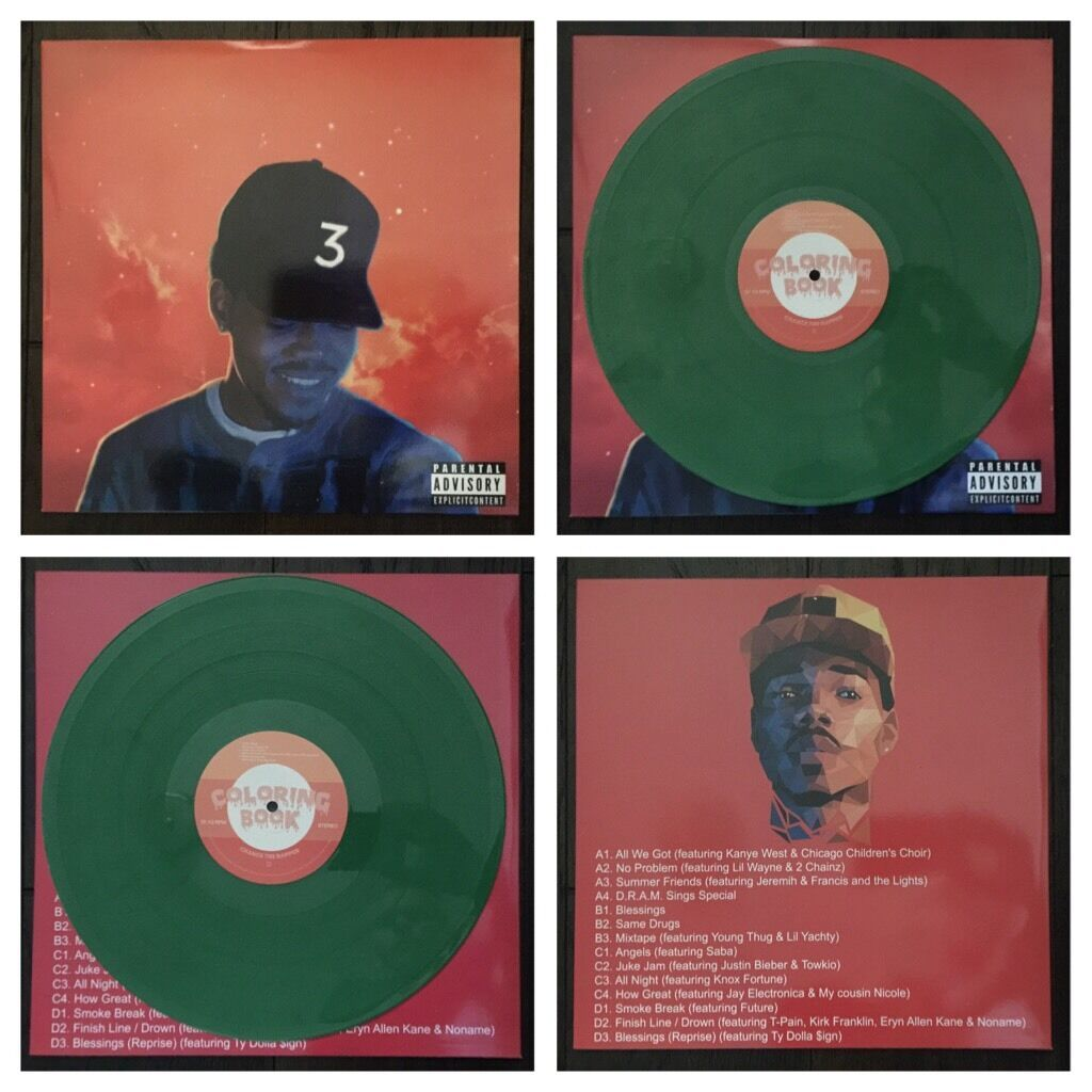 Rare chance the rapper coloring book green kush color Coloring book chance the rapper vinyl