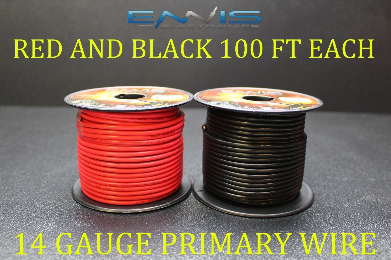 14 GAUGE WIRE 200 Ft Ennis Electronics 100 Red 100 Black Primary Awg ...