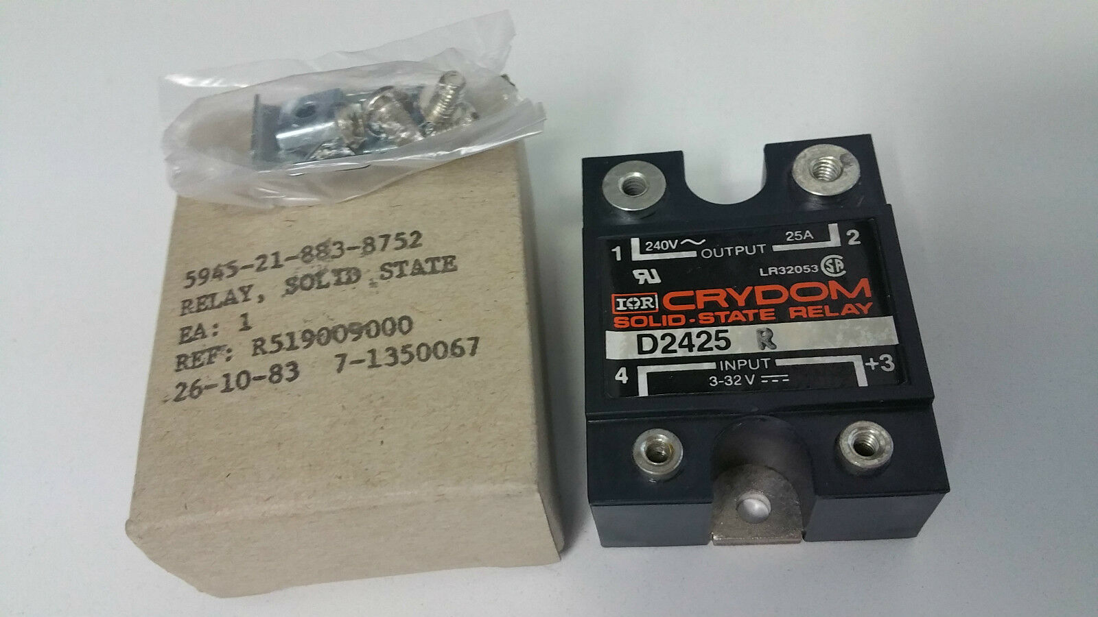 Crydom D2425 Solid State Relay, 24 to 280VAC 25A 1 of 10 .
