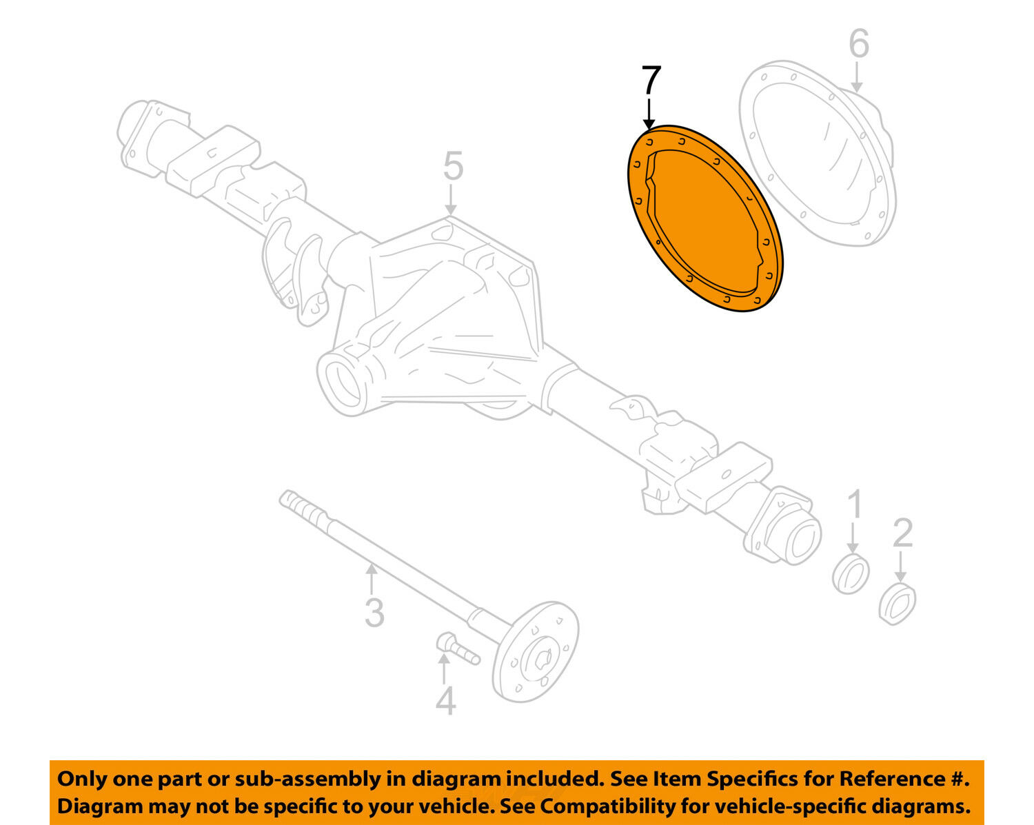 Gm Oem Rear Axle Differential Pumpkin Cover Gasket 15807693 1663 Diagram Of A 1 2only 5 Available