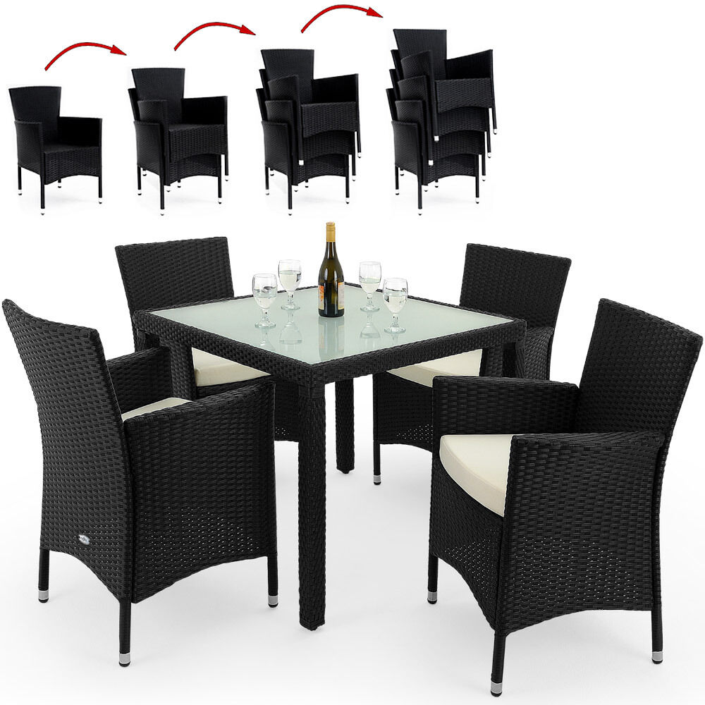 sitzgruppe 9 tlg gartenm bel polyrattan garten essgruppe set tisch sitzgarnitur eur 173 50. Black Bedroom Furniture Sets. Home Design Ideas