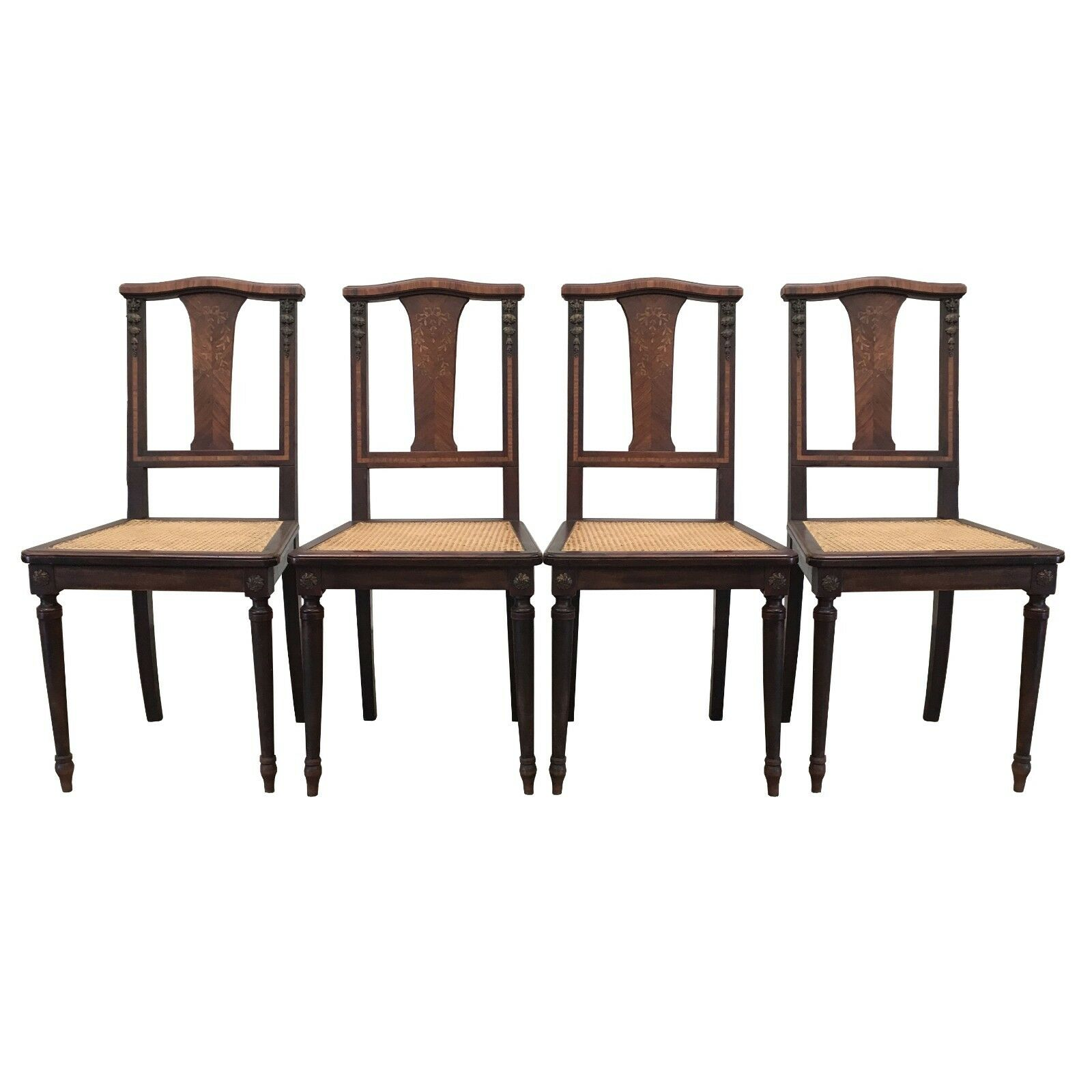 French Antique Dining Chairs With Cane Seats 1 Of 8Only 1 Available ...