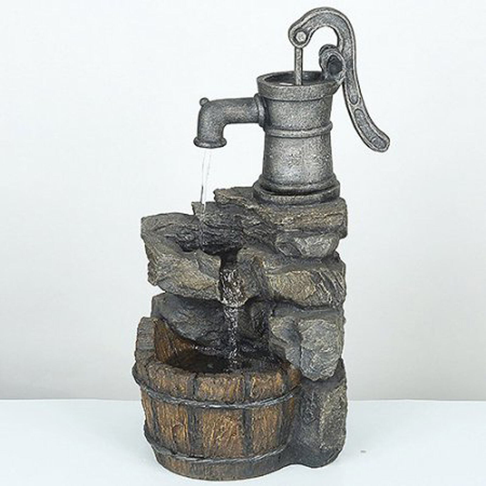 waterfall fountain outdoor garden backyard home decor water pump