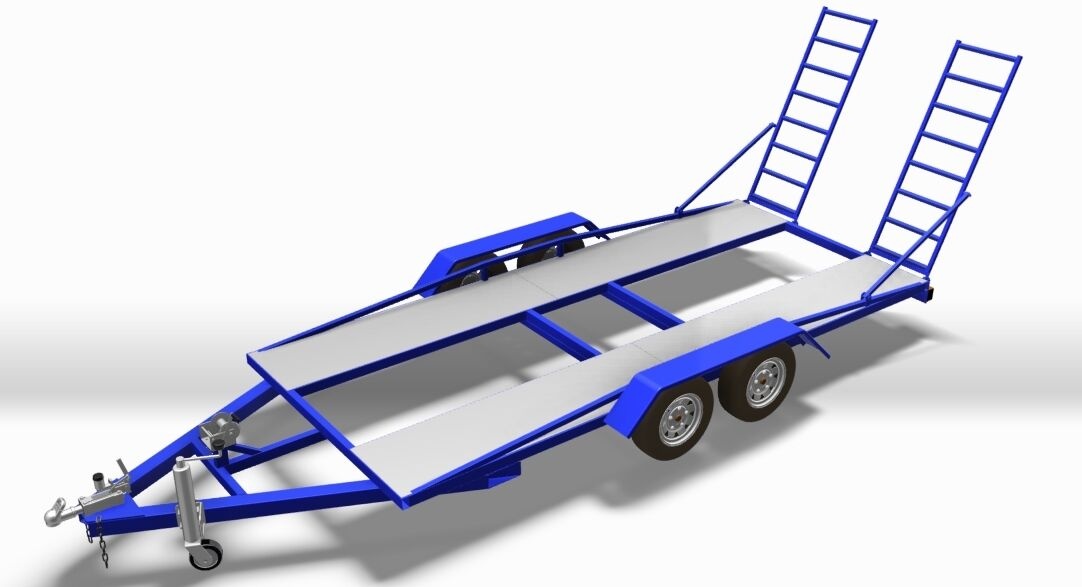 Build It Yourself - Trailer Plans - Diy Twin Axle Car Trailer • EUR ...