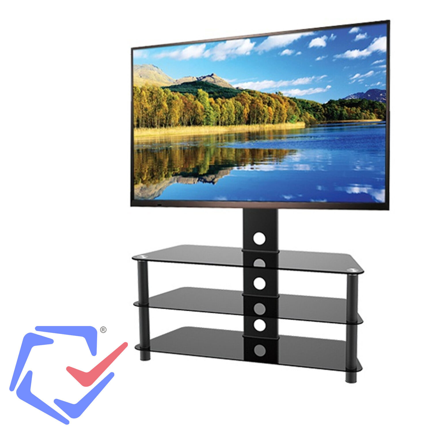 fernseher halterung schrank tv lcd led plasma hifi regale st nder halter neu eur 99 99. Black Bedroom Furniture Sets. Home Design Ideas