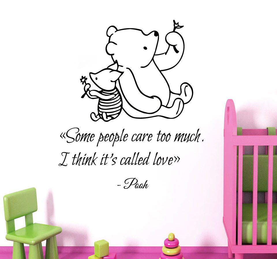 Winnie The Pooh Wall Decal Quote Piglet Vinyl Stickers Kids Nursery