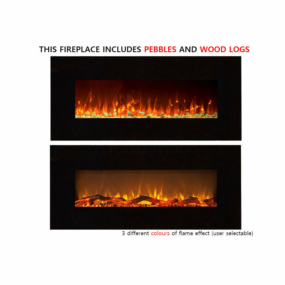 Brand New 1500w 50 Electric Fireplace With Realistic Flame Effect Aud Picclick Au