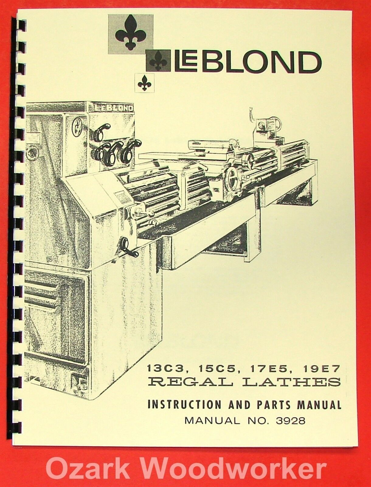 Leblond 13c3 15c5 17e5 19e7 Lathe Operator Parts Manual 0429 Wiring Schematic 1 Of 3free Shipping See More