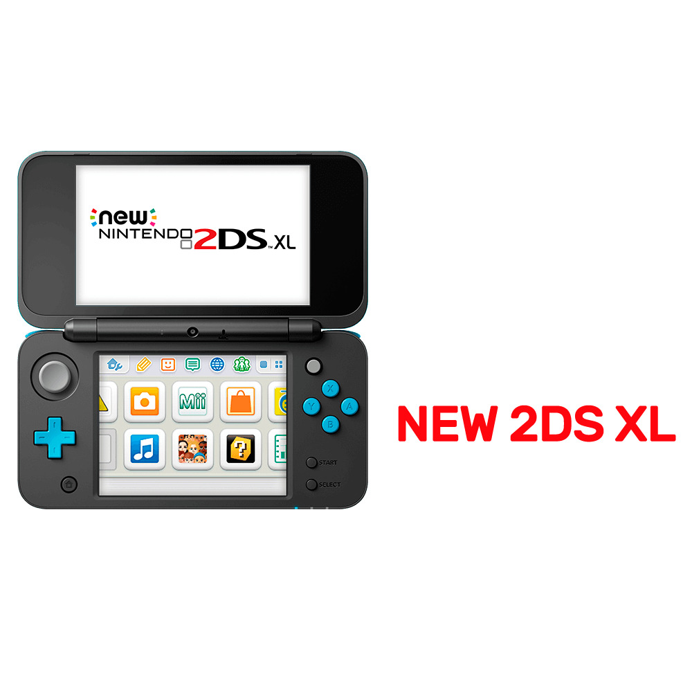 Nintendo new 2ds xl console black blue nintendo 3ds for Housse new 2ds xl