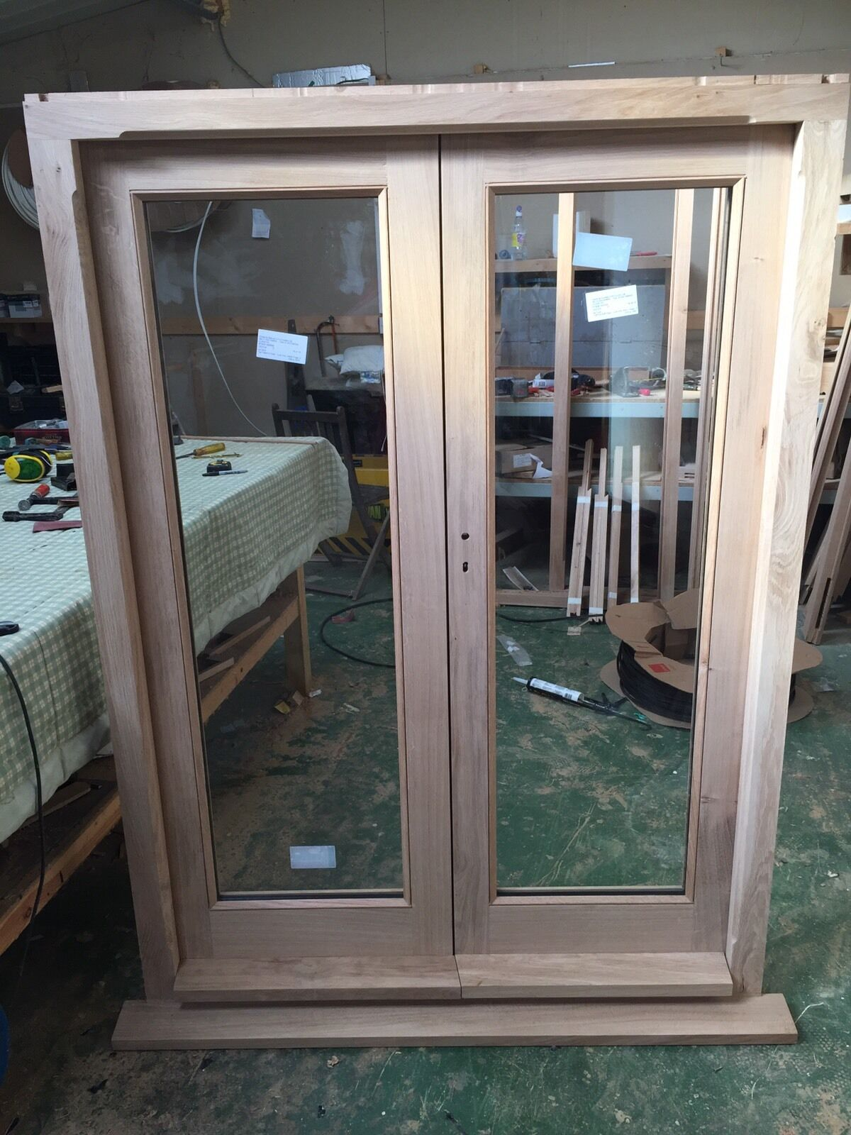 Solid Oak Hardwood French Doors And Frame  £1,70000. Cheap Garage. Two Car Metal Garage. Garage Door Keychain Remote. Custom Metal Doors. Garage Doors Hinged. Antique Cabinet Door Pulls. Pet Storm Door. Black Garage Doors