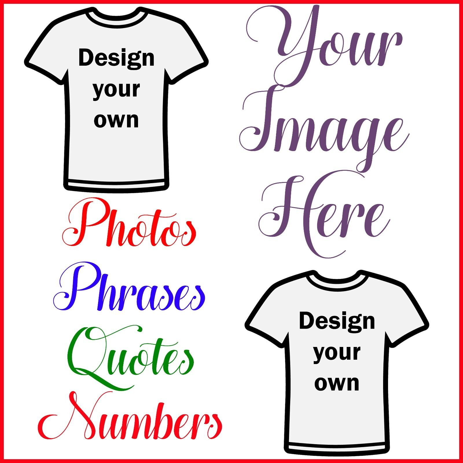 create your own custom t shirt iron on transfer any picture or