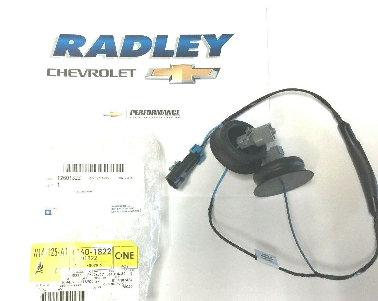 Oem New Gm Chevrolet Gmc Cadillac Pontiac Knock Sensor Wire Harness Wiring 12601822 1 Of 2free Shipping See More