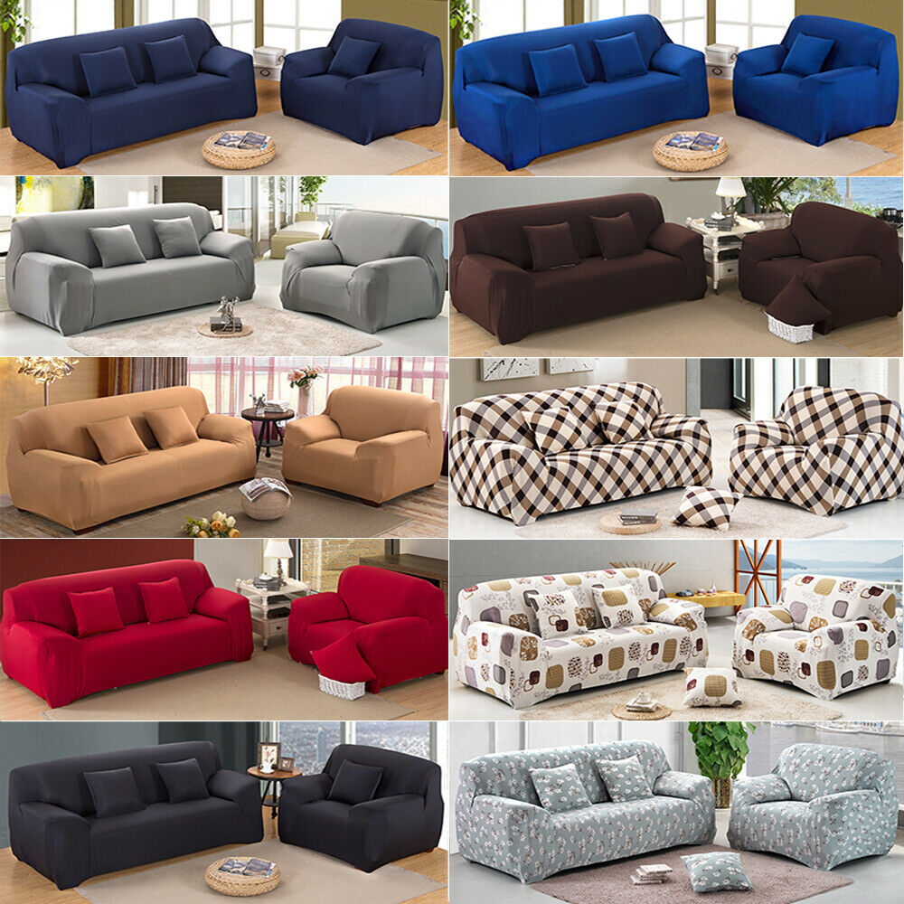STRETCH FIT SOFA Cover Lounge Couch Removable Slipcover