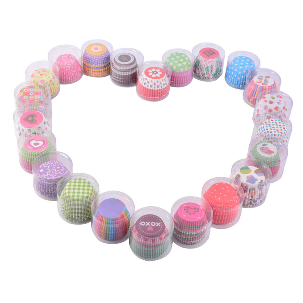 100pcs Mini Cake Baking Cups Paper Cup Cupcake Muffin Cases Home Baking Cups