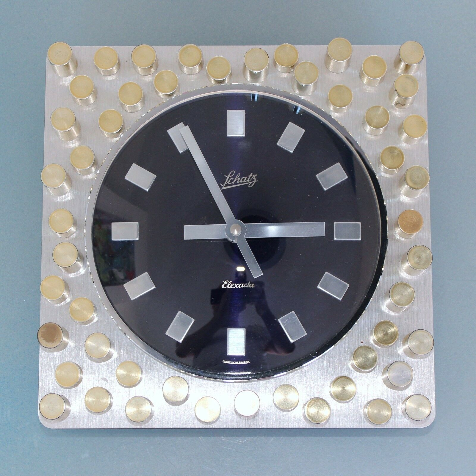 Clock Wall Schatz Elexacta Top Germany Mid Century Cut