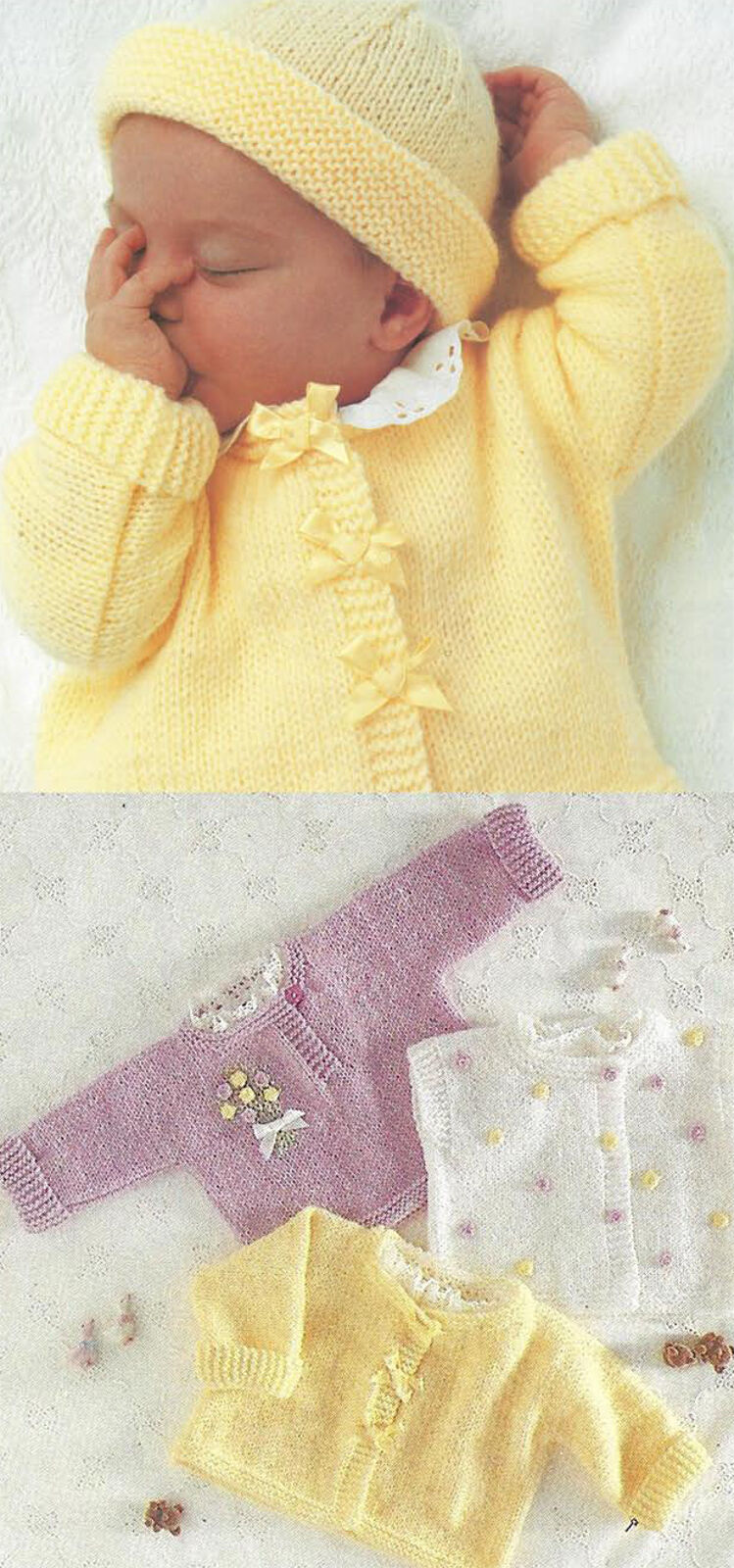 Knitting Pattern Baby Bolero Cardigan : Quick Easy Knit Baby Jackets Sweater Cardigan Bolero Knitting Pattern (336)  ...
