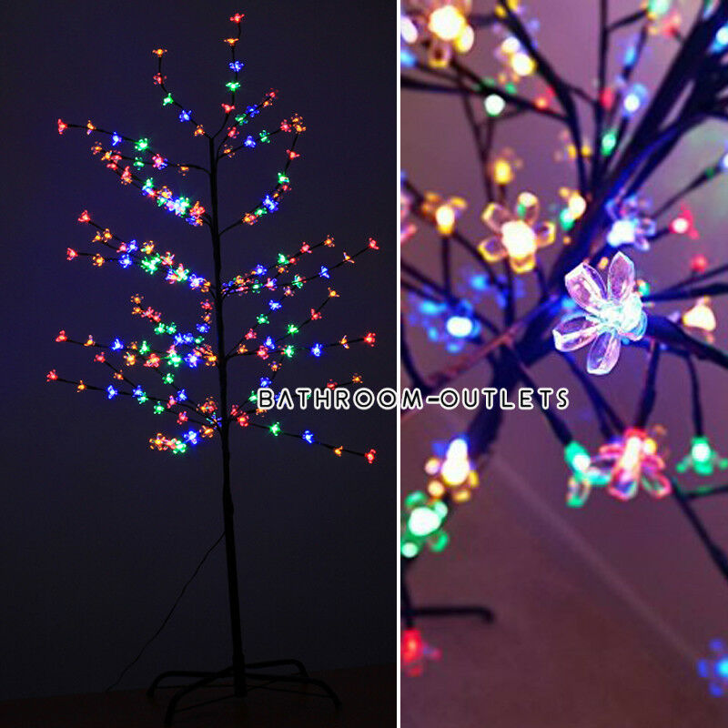 Christmas decoration winter light up 180 led twig tree 5ft for 180 degrees christmas decoration