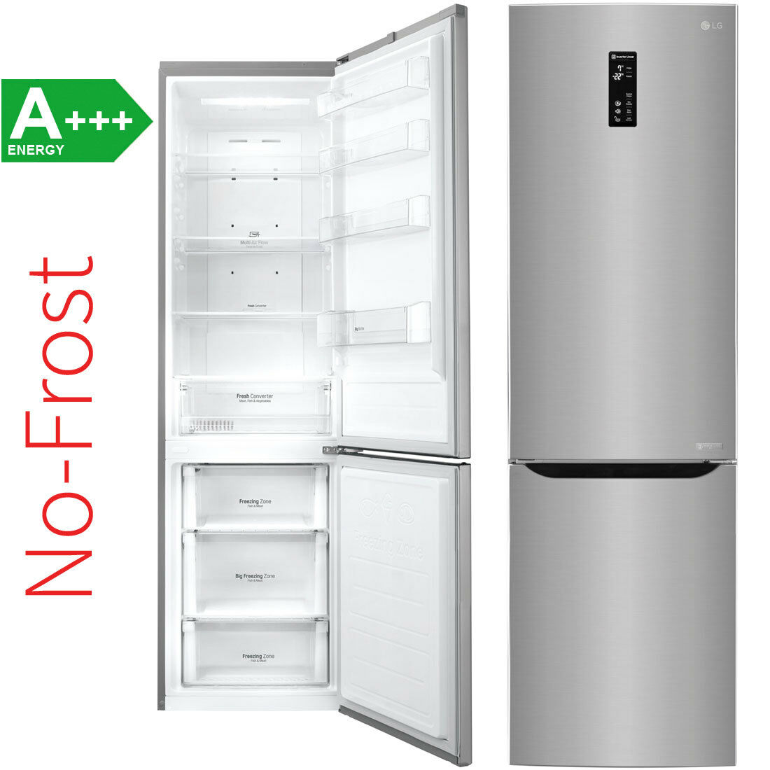 Lg gbp20pzqfs a no frost stand kuhl gefrierkombination for No frost kühl gefrierkombination