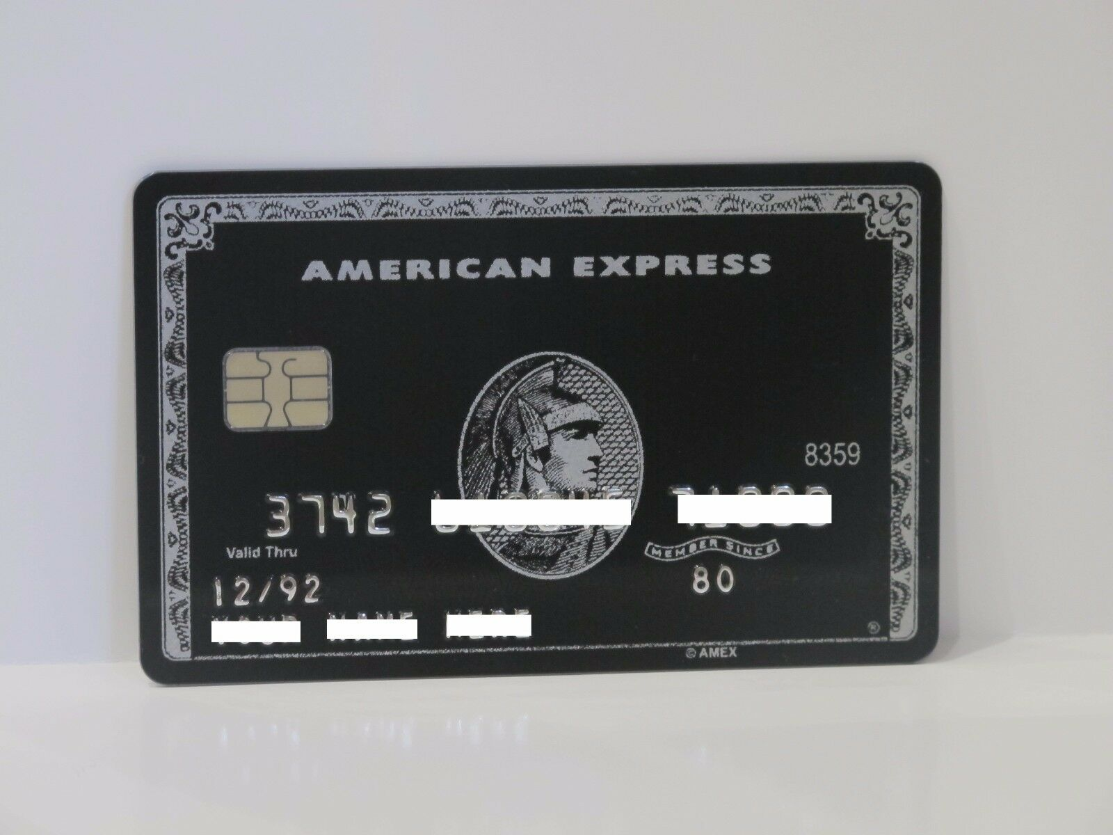 AMERICAN EXPRESS BLACK Centurion Card Amex With Chip - $48.53   PicClick