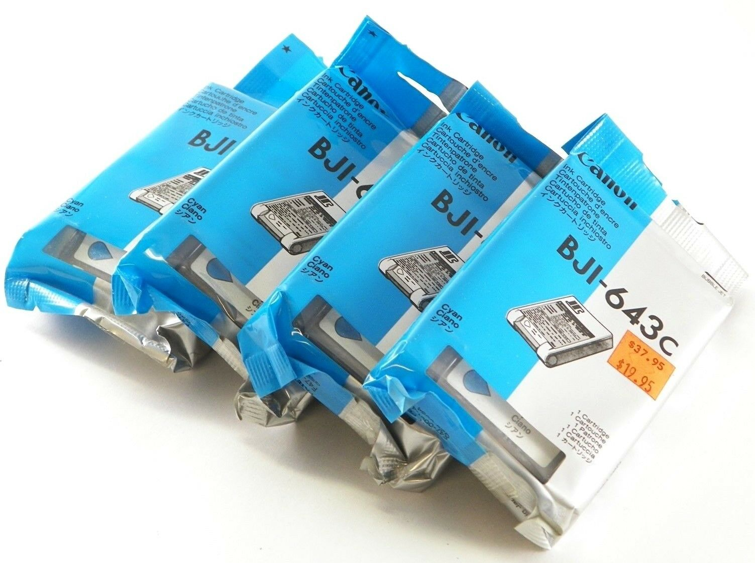 Canon Bji 643 Cyan Ink Cartridge Bubble Jet 643c New Sealed Tinta 831 1 Of 7only 2 Available