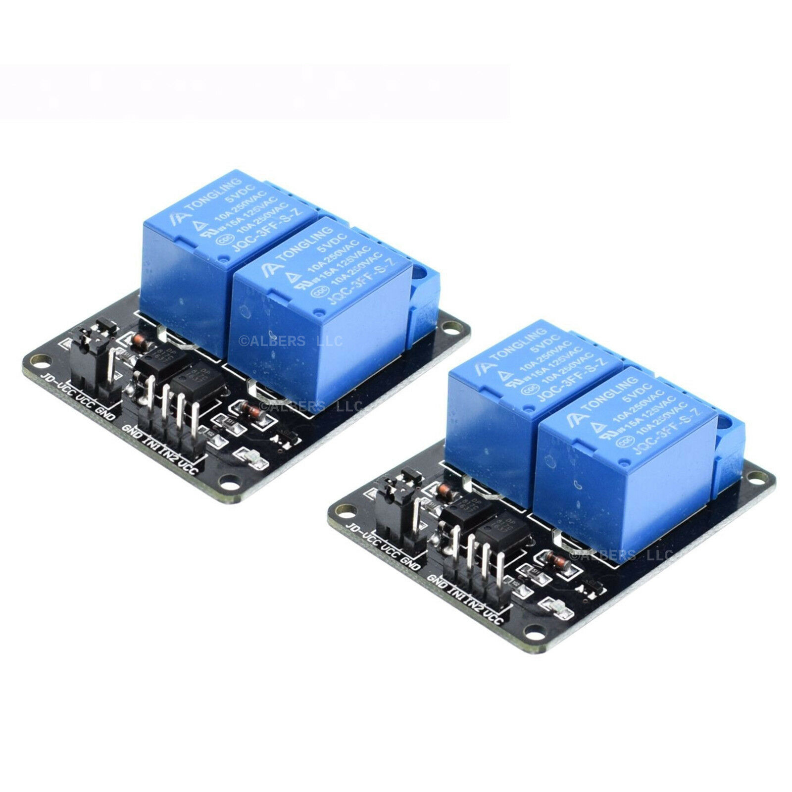 2pcs 5v Dual Channel 2 Relay Module Arduino Relays Switch 110v 115v Power Controller Circuit 1 Of 4free Shipping