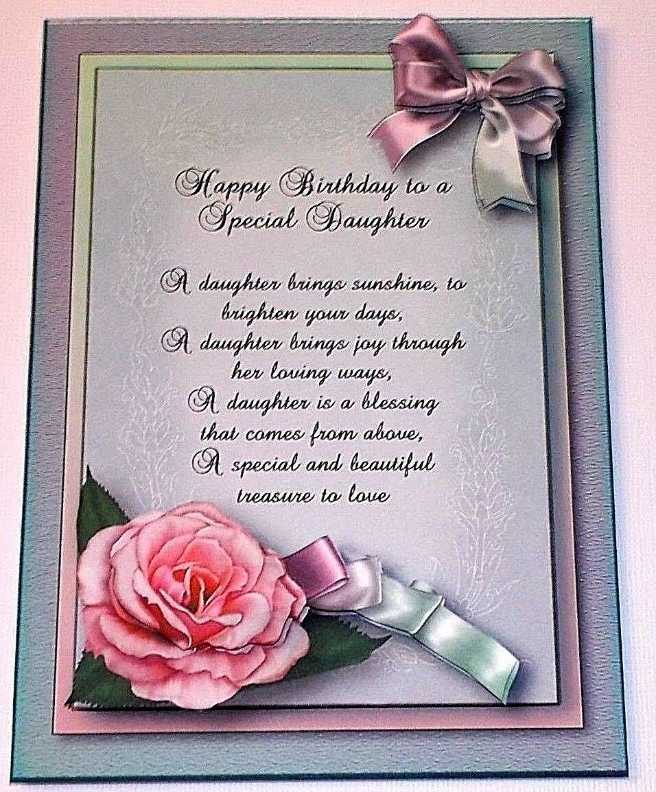 Handmade Greeting Card 3d Happy Birthday Special Daughter With A