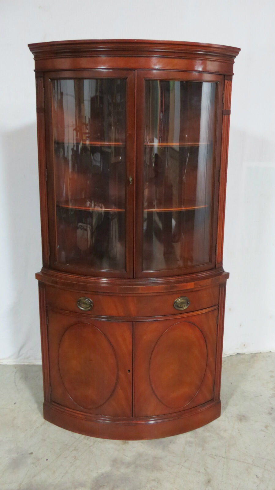 Delicieux Drexel Bowfront Curved Glass China Cabinet Mahogany 1 Of 9Only 1 Available  ...