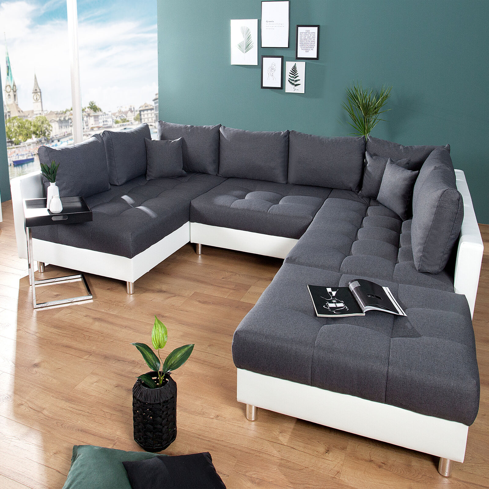 xxl wohnlandschaft kent 305 cm inkl hocker couch sofa u sofa federkern eur 699 95 picclick de. Black Bedroom Furniture Sets. Home Design Ideas