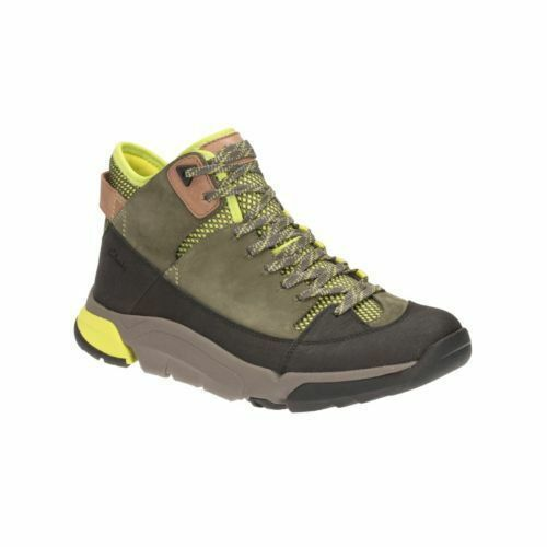 CLARKS TRI OUTFLEX GREY GENUINE NUBUCK LEATHER MENS WALKING BOOTS TRAINERS SHOES