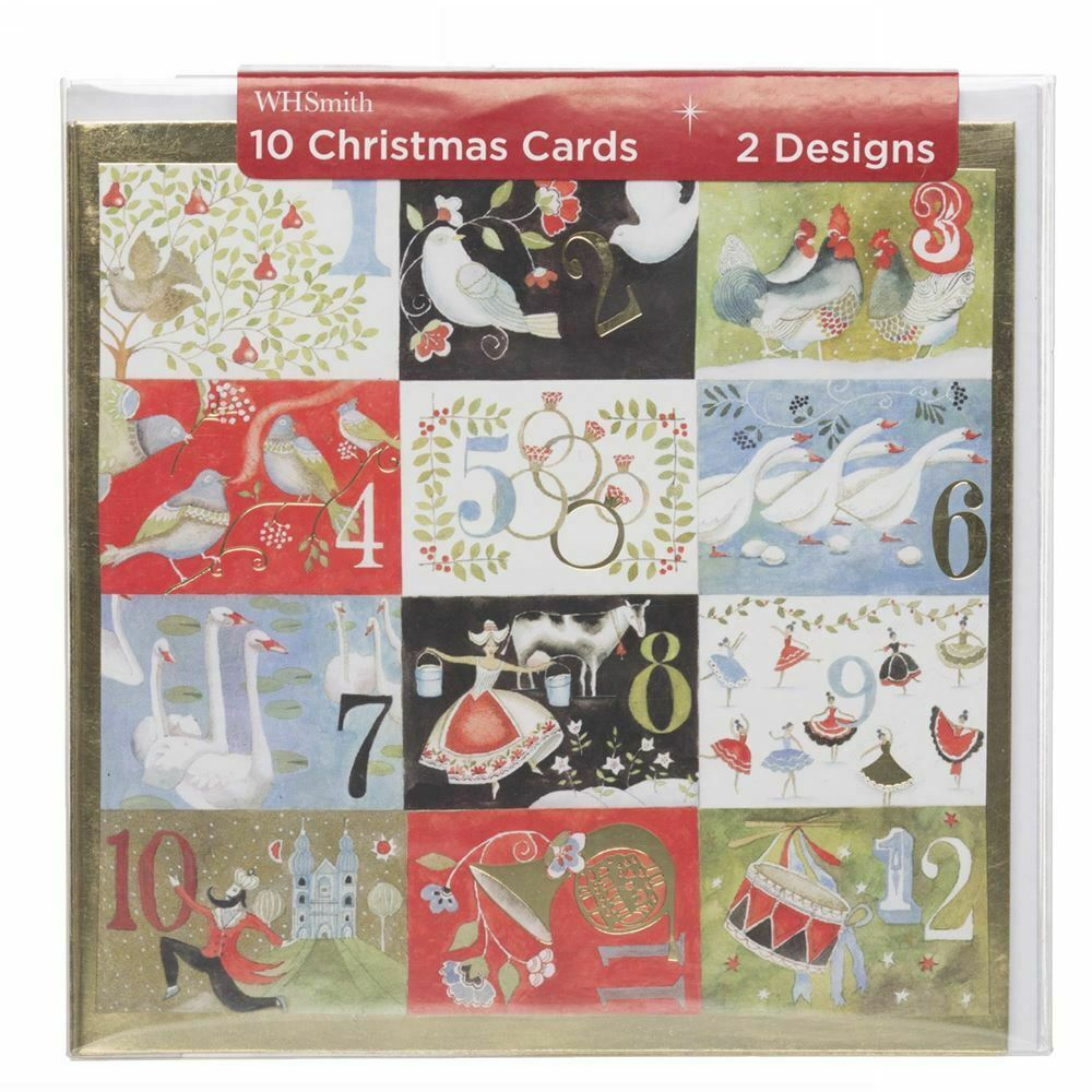 whsmith twelve days of christmas 2 different designs