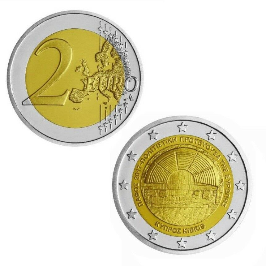 cyprus 2017 new 2 euro coin paphos european cultural city unc cad picclick ca. Black Bedroom Furniture Sets. Home Design Ideas